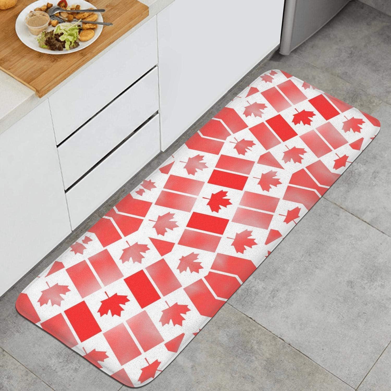 Kitchen Mat,National Flag of Canada Day Mats for Kitchen Non Slip ...