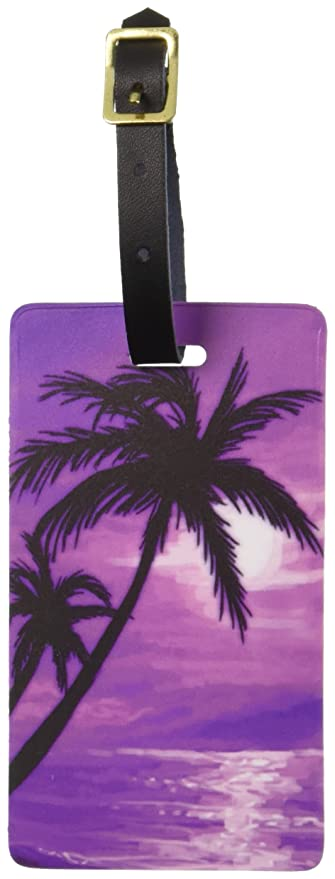 6f6747e1cbf4 Graphics & More Palm Trees and Sunset Pink-Beach Tropical Ocean Luggage  Tags Id, White