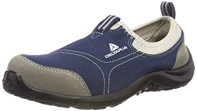 c09e577dbec Delta Plus Panoply Miami S1P Blue Canvas Slip On Steel Toe Safety Trainers  Sneakers