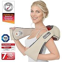 Donnerberg DAS ORIGINAL Schulter Massagegerät Elektrisch für Nacken Rücken | Shiatsu Nackenmassagegerät mit Wärmefunktion | 3D Rotation Massage | TÜV | 7 Jahre Garantie | Haus Büro Auto