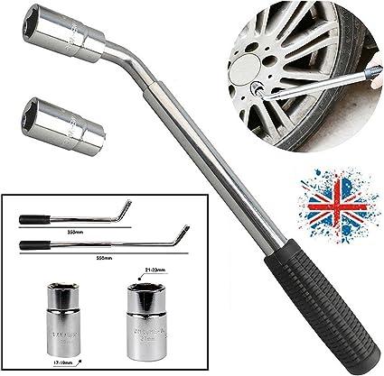 Telescopic Extendable VAN Car Tyre Wrench Socket Wheel Brace Nut 17 19 21 /& 23mm