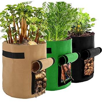 Bolsas para cultivo de papas, paquete de 3 bolsas de cultivo ...