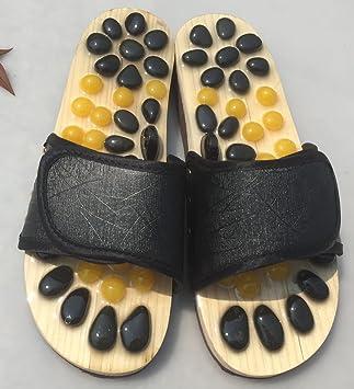 Tiendas De Fábrica Naturales Jade Color Natural Zapatillas De Masaje Foot Massage Shoes Zapatillas De Casa,Black: Amazon.es: Hogar