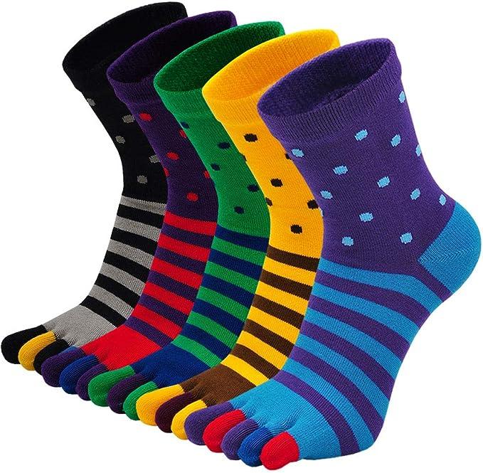 LOFIR Calcetines con Dedos Separados para Hombre Calcetines 5 Dedos, Calcetines de Algodón de Deporte para Niños, Talla 38-44, 5 pares: Amazon.es: Ropa y accesorios