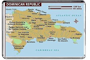 Cfl M205 Karte Von Dominikanischen Republik Kühlschrankmagnet Die