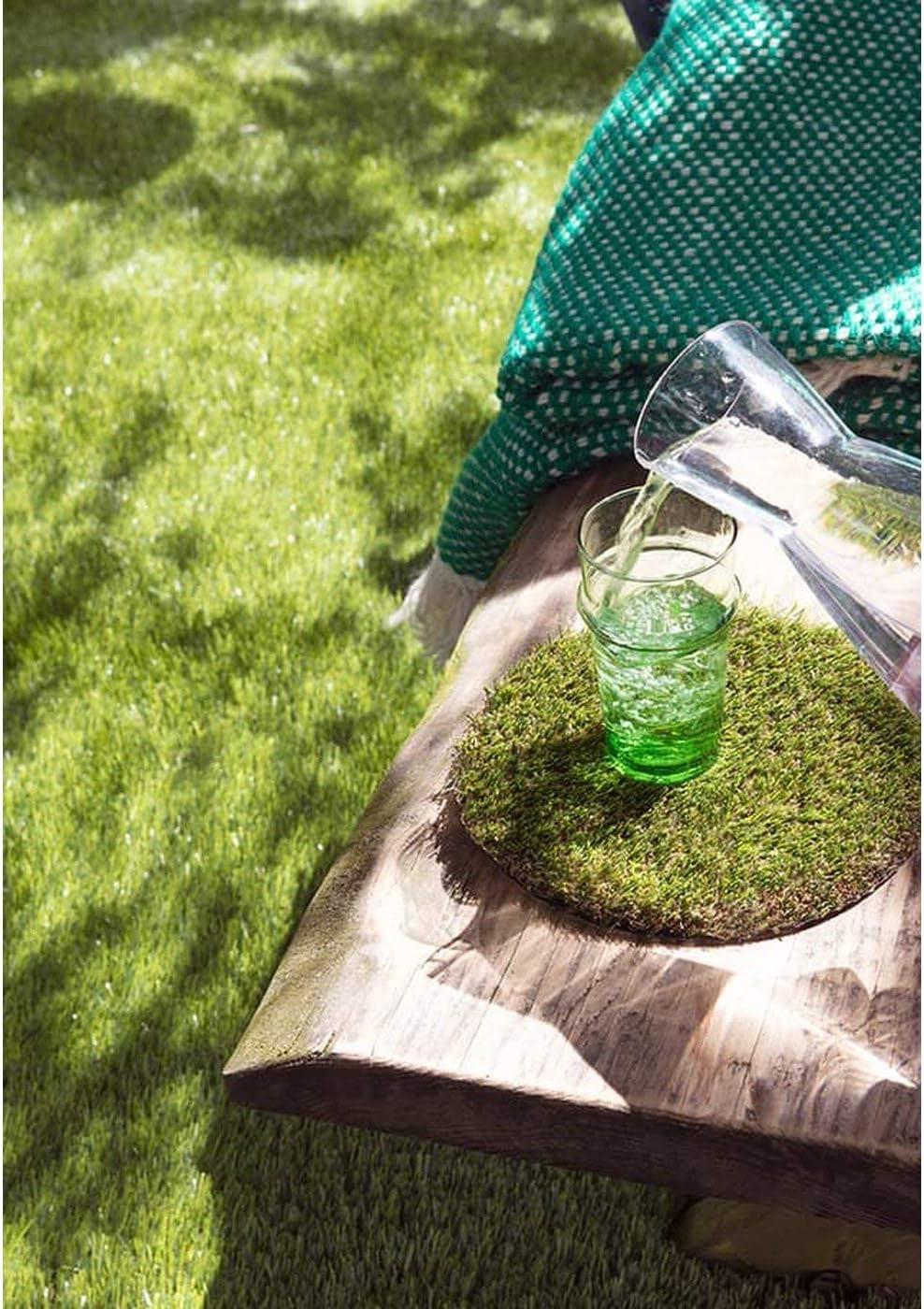 Wasserdurchl/ässiger Kunstrasen f/ür Balkon Terrasse und Garten Kunststoffrasen Kunstrasen Rasenteppich Meterware Arizona mit Drainage Florh/öhe 30mm Rollrasen UV-Best/ändiger 2,50m x 3,50m