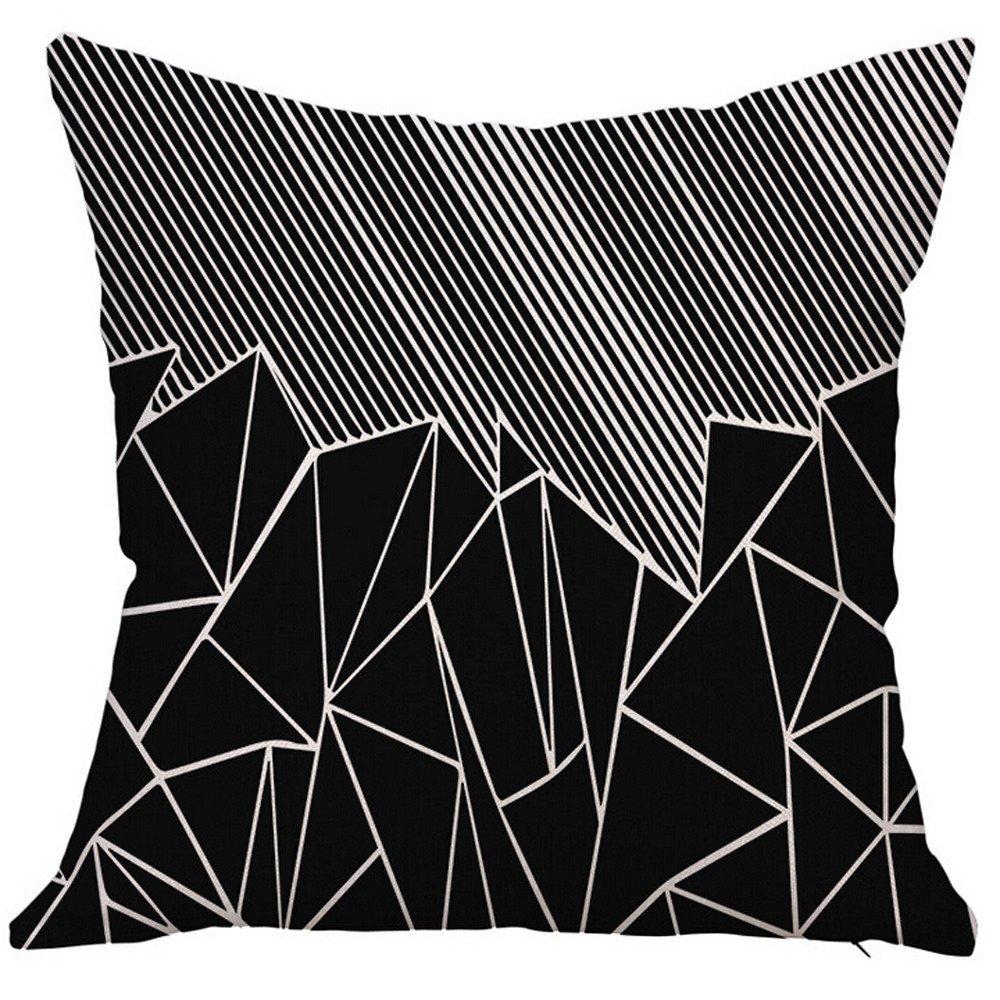 wuayi caché Fermeture Éclair carré Couvre-lit décoratif Taies d'oreiller Housses de Coussin pour canapé Home Decor, a, Taille Unique