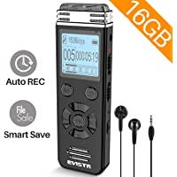 $27 » EVISTR V508 16gb Digital Voice Recorder for Lectures Meetings - Portable Recording Devices…