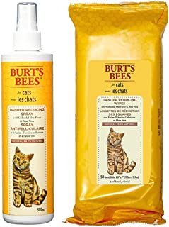product image for Burt's Bees for Cats Dander Reducing Spray and Wipes Bundle