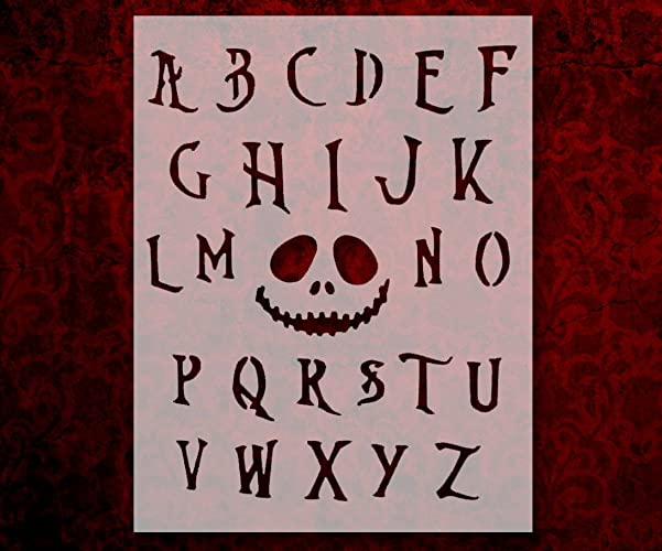 Nightmare Before Christmas Fonts.Nightmare Before Christmas Font Alphabet 8 5 X11 Stencil Fast Free Shipping 283