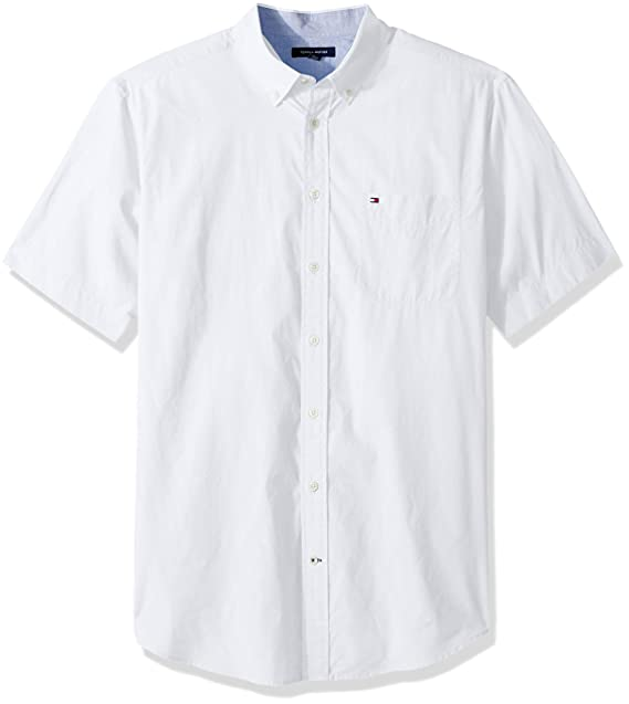 87b9e319b Tommy Hilfiger Mens Big and Tall Button Down Short Sleeve Shirt Maxwell Button  Down Shirt: Amazon.ca: Clothing & Accessories