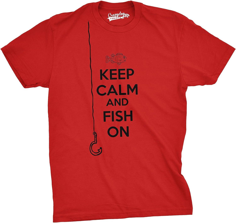 KEEP CALM I/'M A ANGLER FISHERMAN FISHING NOVELTY GIFT FUNNY ADULTS TSHIRT