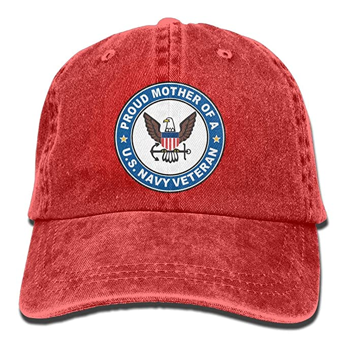 9d59649a002 U.S. Navy Veteran Proud Mother Youth Baseball Cap Retro Denim Golf Hat at  Amazon Men s Clothing store
