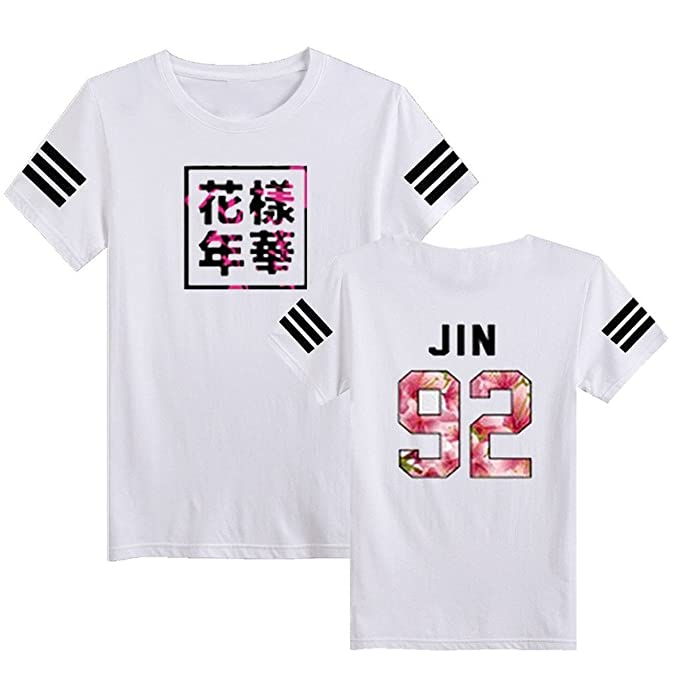 SERAPHY Camiseta Unisex KPOP BTS Camiseta Estampada Bangtan Boys BTS Young Forever Bloom Floral Suga Jin Jimin Jung Kook J-Hope Rap-Monster V: Amazon.es: ...