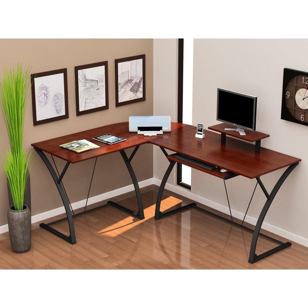 Amazon.com: Z-Line Designs Khloe L Desk, Brown: Kitchen u0026 Dining