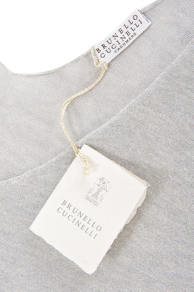 Brunello Cucinelli Kleid Damen Grau Einfarbig Seide M IT  Amazon.de   Bekleidung 06e3c78342