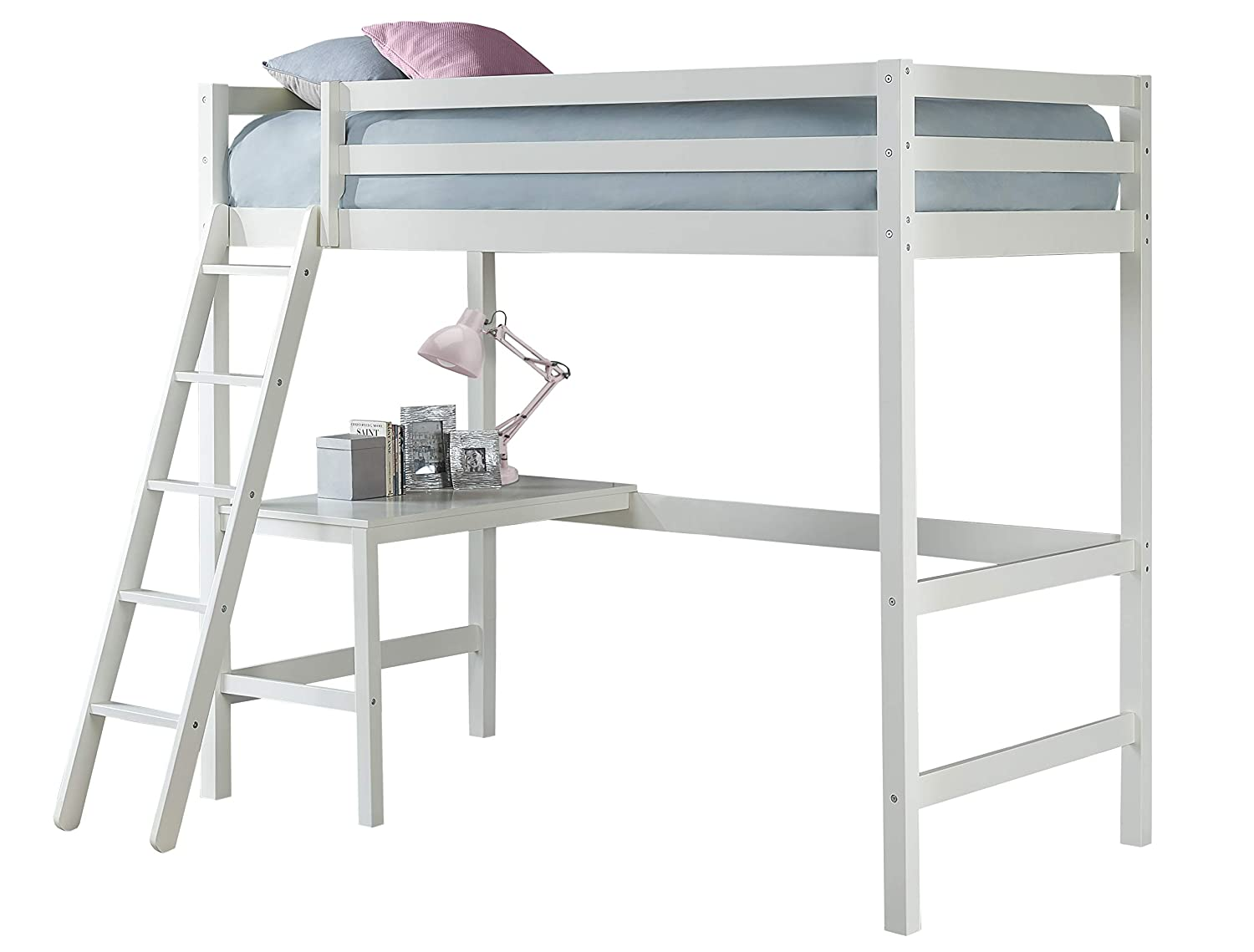 Hillsdale Furniture Hillsdale Caspian Twin Loft Bed, White