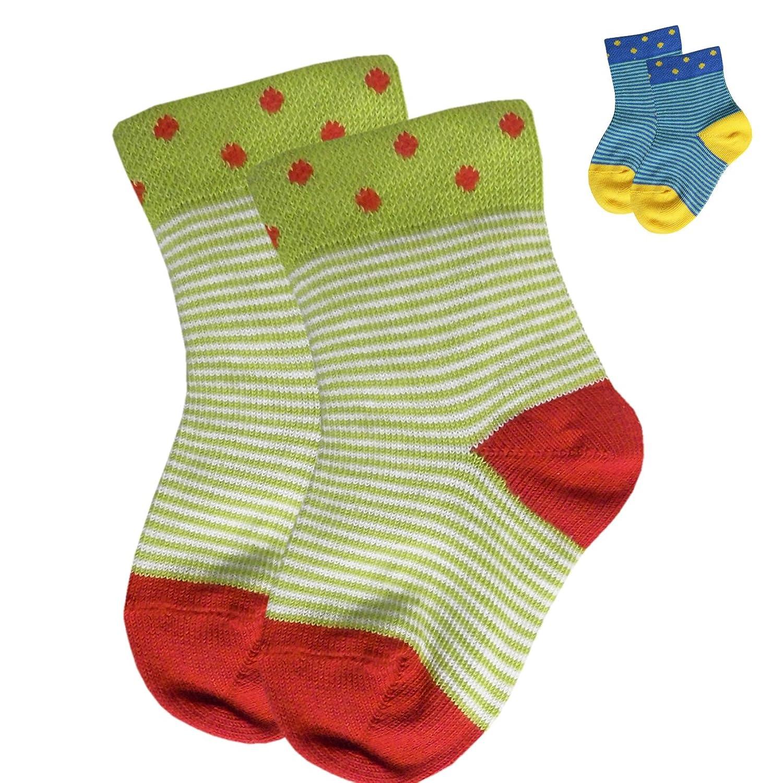 Ergora Babysöckchen 2-er Pack Öko-Tex in 2 Farben Gr. 62/68 bis 98/104 Baby-Mädchen-Jungen-Socken