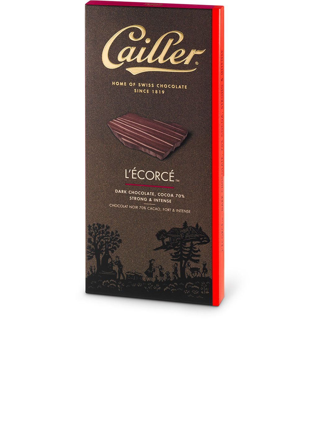 CAILLER LEcorce Dark Chocolate Cocoa Bar, Strong/Intense, 3.5 Ounce (Pack of 16): Amazon.com: Grocery & Gourmet Food