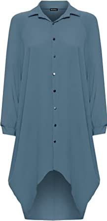 Chemise Robe Manche Taille Wearall Grande Femmes Longue Batwing vgY7bf6y