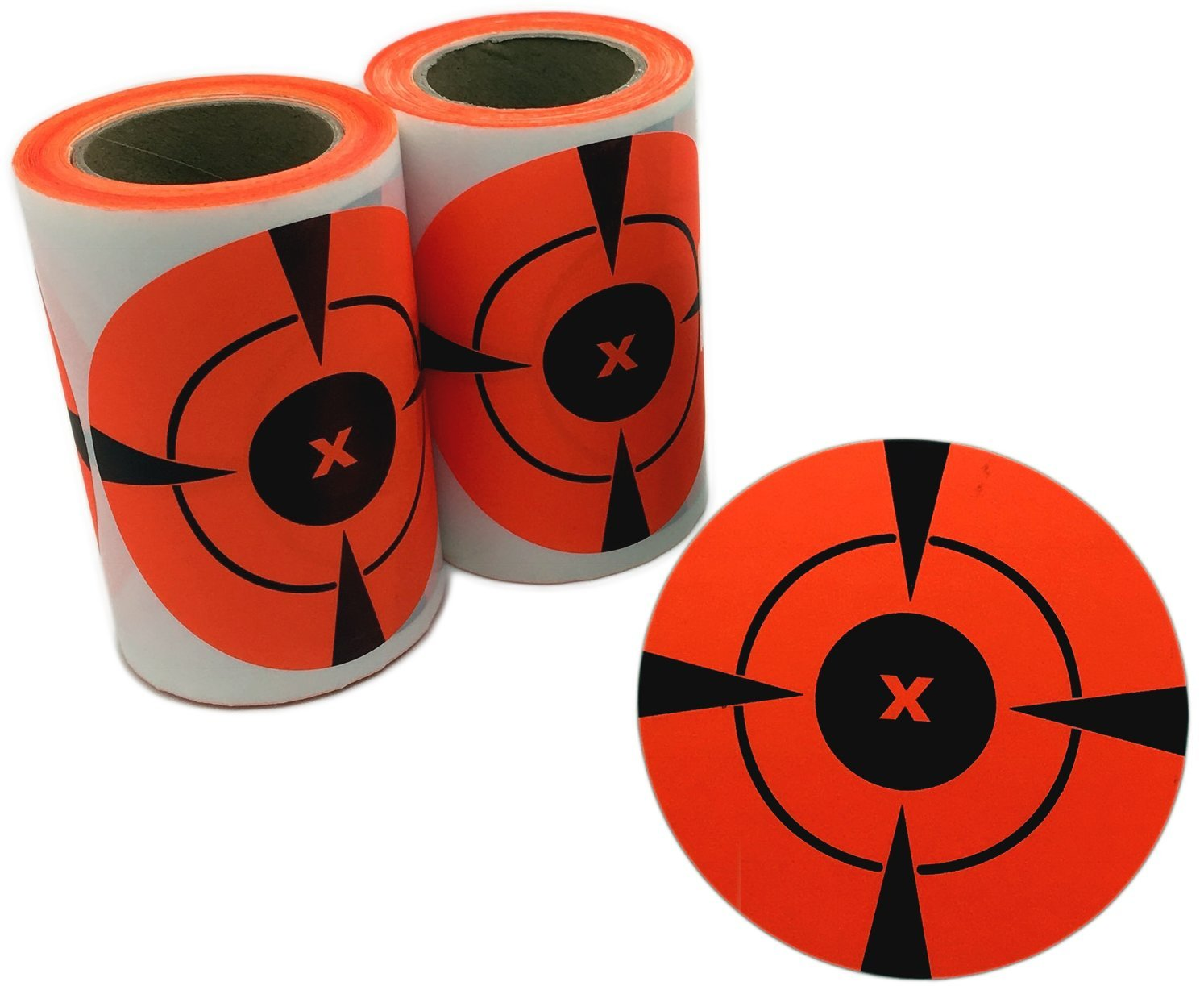 Okallo Products Neon Orange 3'' Shooting Sticker Targets - 200 Pack (2 Rolls of 100)