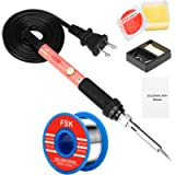Soldering Iron Kit, 60W Soldering Iron with Ceramic Heater, 4-in-1 Adjustable Temperature Soldering Welding Iron Kit for…