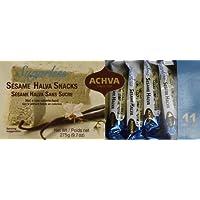 Achva Sugar Free SESAME Halva Snack Kosher Mini Bars 2 Packs, 11 Snacks, N.W. 9.7oz each pack