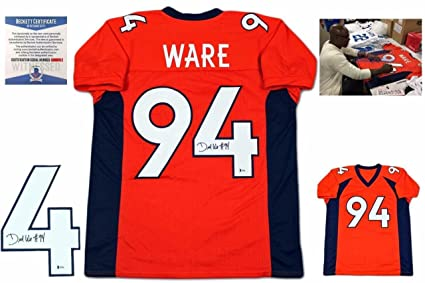 cheap for discount fd32c 61d58 Autographed DeMarcus Ware Jersey - Beckett Witnessed Orange ...