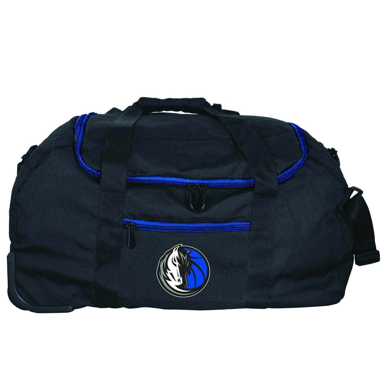 Denco NBA Dallas Mavericks Mini Collapsible Duffel, 22-inches, Black