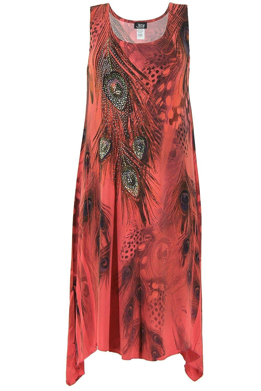 c54032937232 85%OFF Jostar Women's HIT Diamond Side Tank Dress Sleeveless Sublimation  Rhinestones
