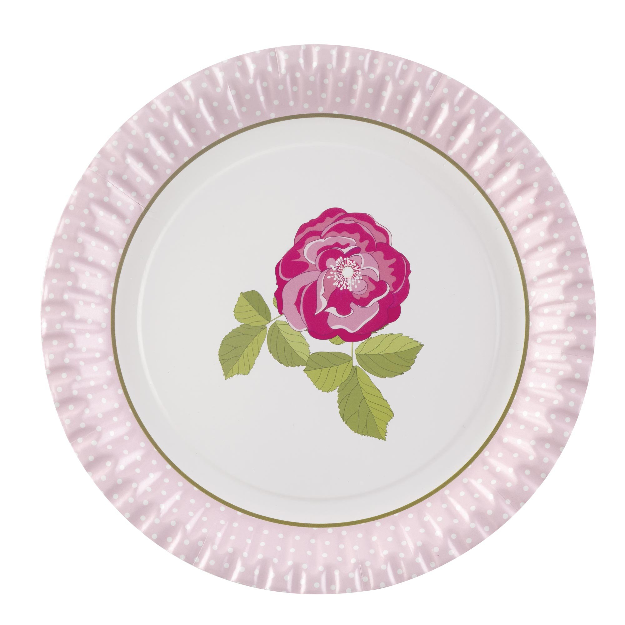 Vintage Rose Party Plates
