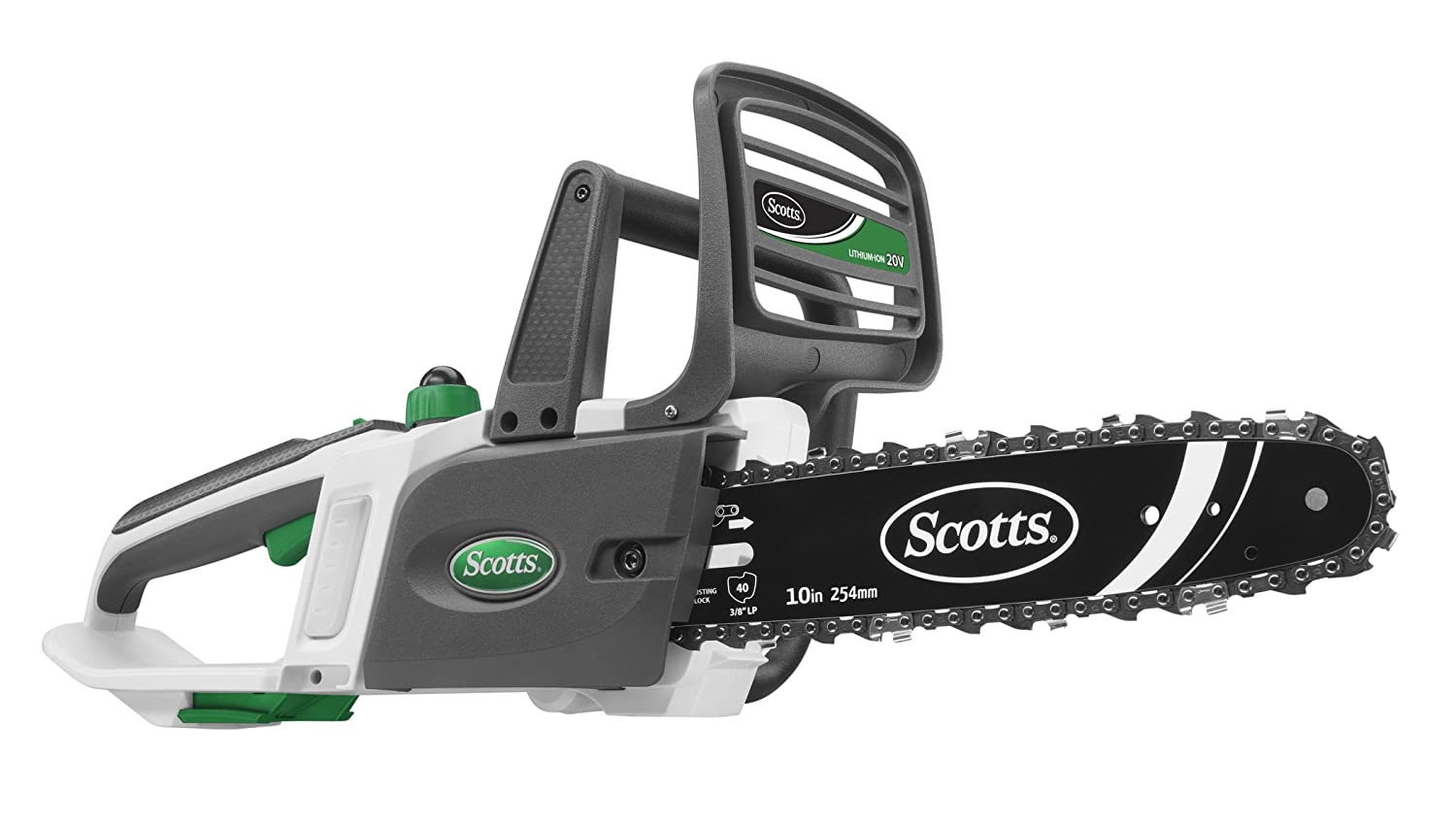 8. Scotts S20510 SYNC 20V Battery Powered Chainsaw