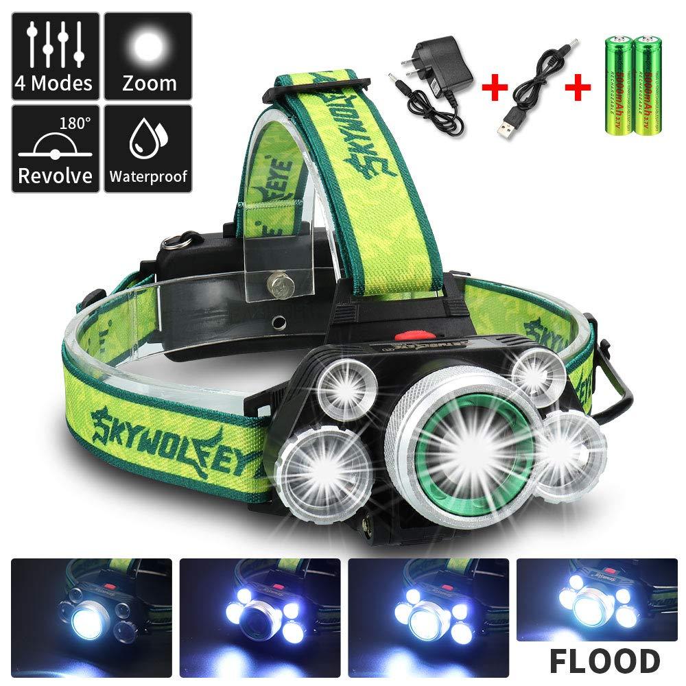 Amazon.com: SKYWOLFEYE - Linterna frontal LED con zoom ...