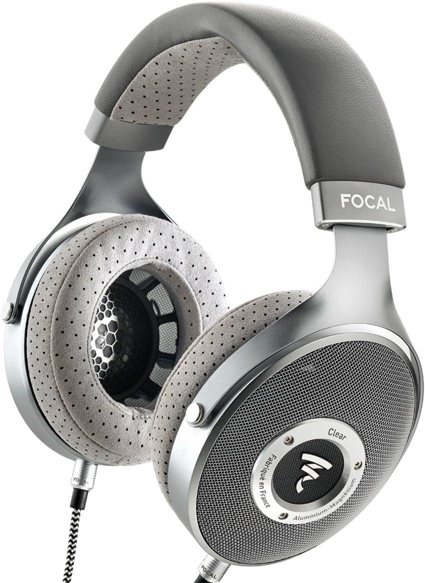 Focal Clear Over-Ear High-Resolution Audiophile Headphones Gray