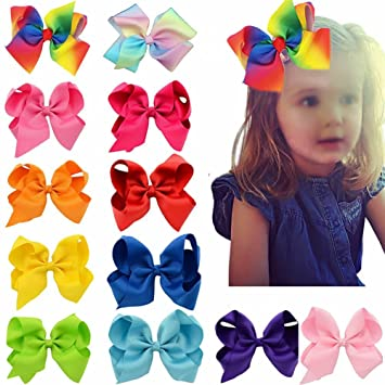 4 Inch Baby Bow Boutique Hair Clips Alligator Clips Grosgrain Ribbon Bow Girl UK