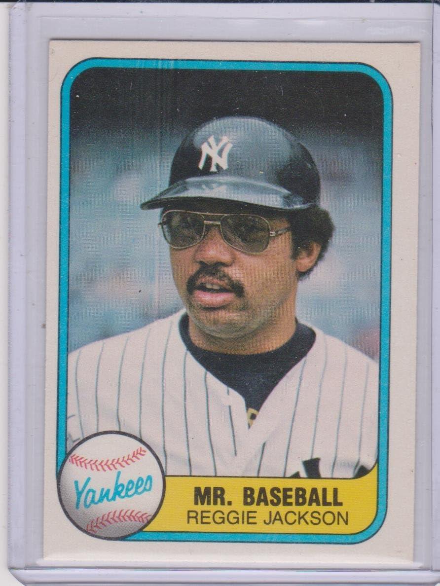 1981 Fleer Reggie Jackson Yankees Mr ...