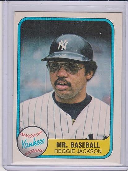 1981 Fleer Reggie Jackson Yankees Mr Baseball Card 273 At