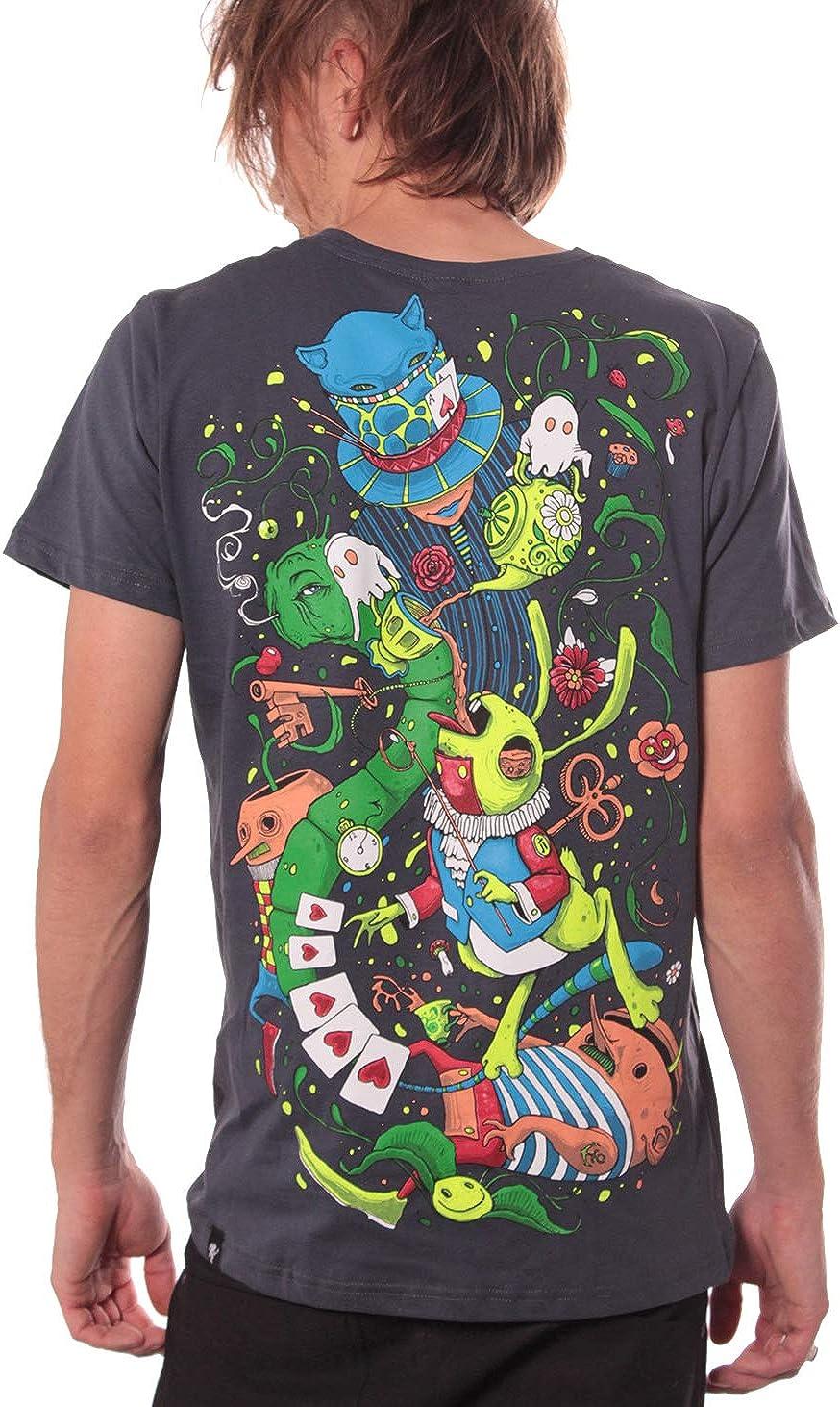 Street Habit Camiseta psicodélica Alicia en el País de Las Maravillas - Ropa Creativa 100% algodón para Hombre: Amazon.es: Ropa y accesorios