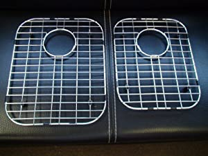 """Stainless Steel Bottom Grids for Kitchen Sink 16""""x12""""3/4 & 14""""1/2x11""""1/4 (2Pces)"""