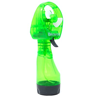 Retailery Portable Battery Operated Water Misting Cooling Fan Spray Bottle, Green: Toys & Games