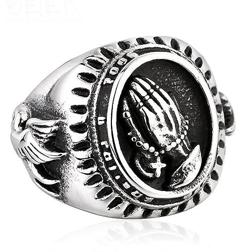 LILILEO Jewelry Titanium Steel Virgin Mary The Hand of
