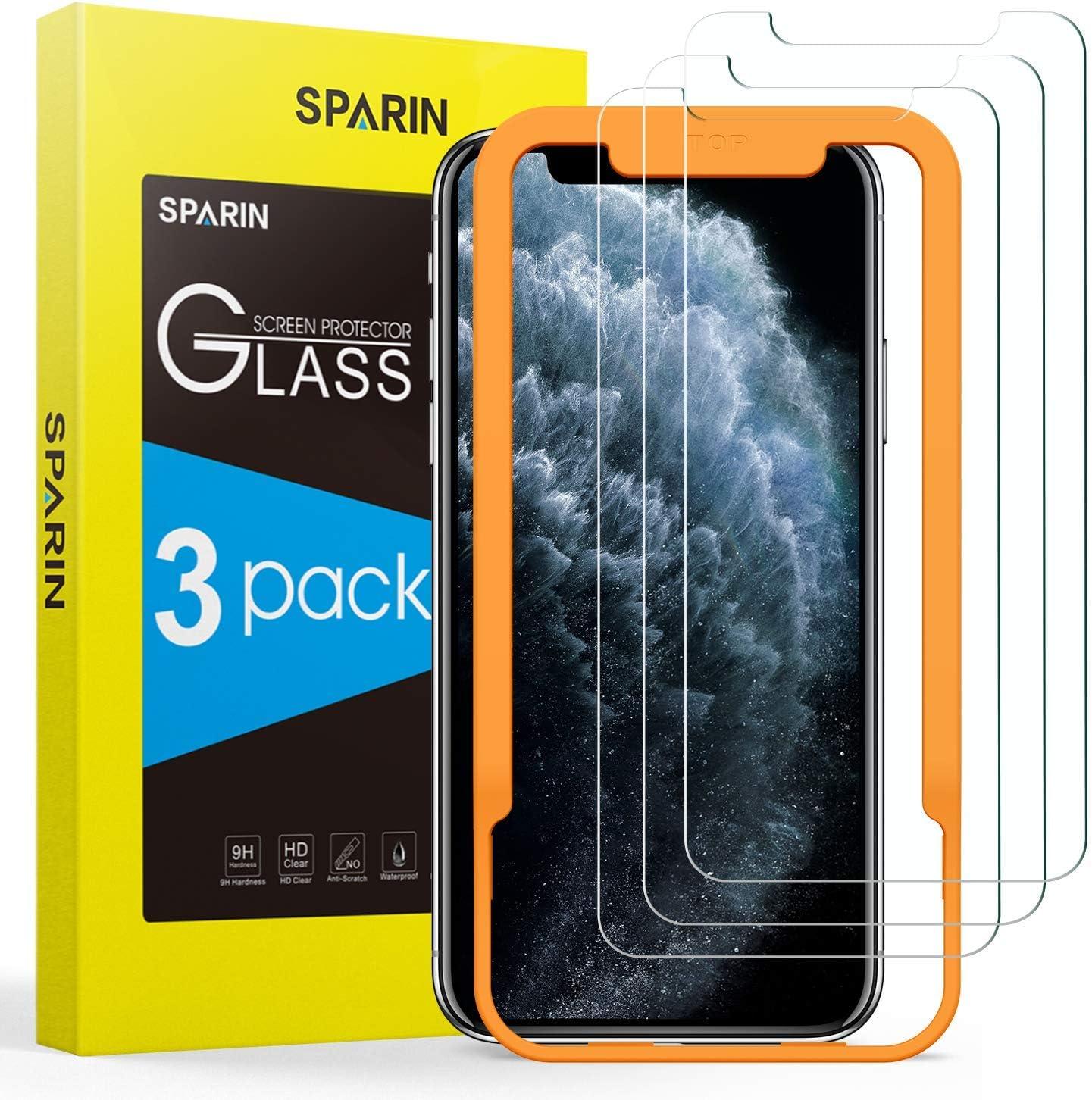 [3-Pack] Cristal Templado iPhone 11 Pro Max/XS Max, Protector Pantalla iPhone 11 Pro Max/XS Max Vidrio Templado con [2.5d Borde Redondo] [9H Dureza] [Alta Definicion] para iPhone 11 Pro Max/XS Max
