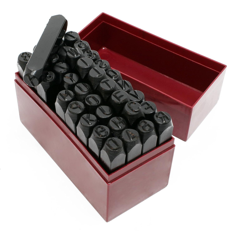 Marchio/Punzone di lettere Punzone di numeri 10 mm 36 pezzi WilTec