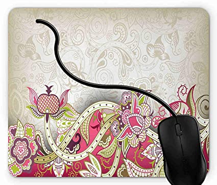 afa41be1f619 Amazon.com : Mouse Pad Ethnic Asian Flower Petal with Oriental ...