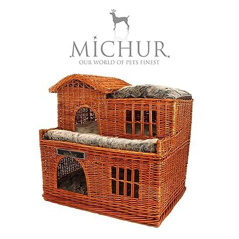 MICHUR Uncle Tom cabina, casa de perro, gato de casa, cama del perro, cama del gato, ...