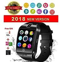 Reloj Inteligente Bluetooth, Impermeable Smart Watch con Camara, SIM/TF Ranura, Monitor de Sueño, Podómetro Fitness Tracker Pantalla Táctil Reloj Bracelet para Android Samsung Huawei Sony iOS iPhone