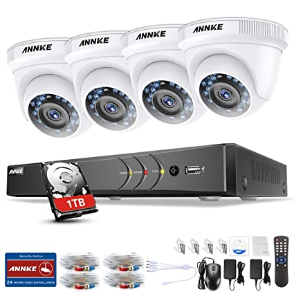 ANNKE Kit de Seguridad 3MP H.264+ DVR 4+1 Canal y 4