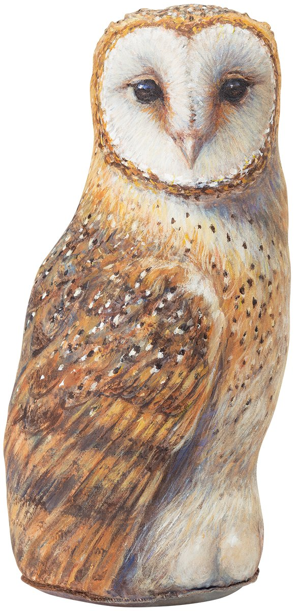 Barn Owl Doorstop, Decorative Animal Doorstopper, Amy Brackenbury Artwork