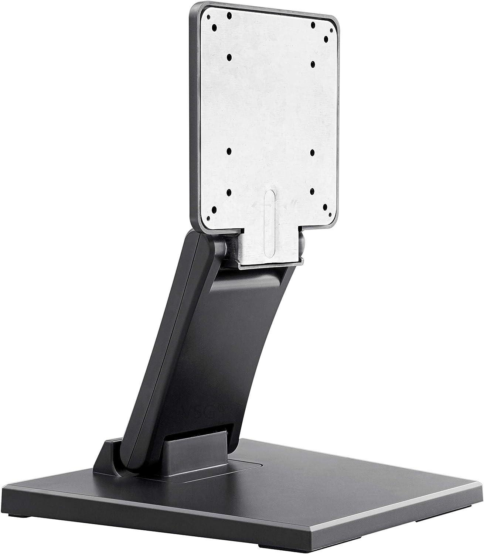 Soporte Altamente Estable para Pantallas táctiles, monitores de PC y PDV/de 10 a 22 Pulgadas/Regulable/con Placa metálica/Peso Elevado/VESA 100 y 75 / Soporte de Mesa/Soportes para Pantallas