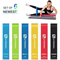 U-POWEX Loop Resistance Bands with 6 Strength Levels , U-POWEX Elastic Exercise Bands for Yoga, Fitness, Gymnastics, Traction, Exercise Fitness Bands with Instruction Guide